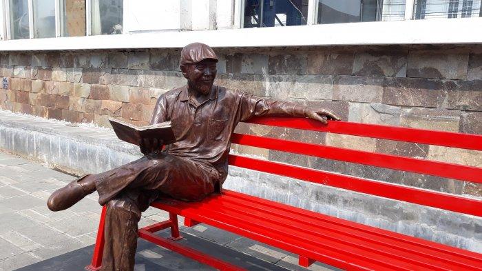 Patung yang berada di Kawasan Kali Besar, Kota Tua, Tamansari, Jakarta Barat, Minggu (26/8/2018). TRIBUNJAKARTA.COM/NAWIR ARSYAD AKBAR
