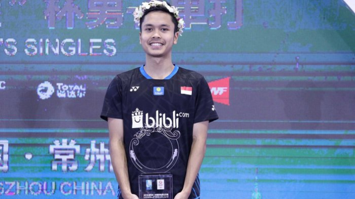 Juarai China Open, Anthony Ginting Dapat Surat dari Volunteer dan Sanjungan Penonton