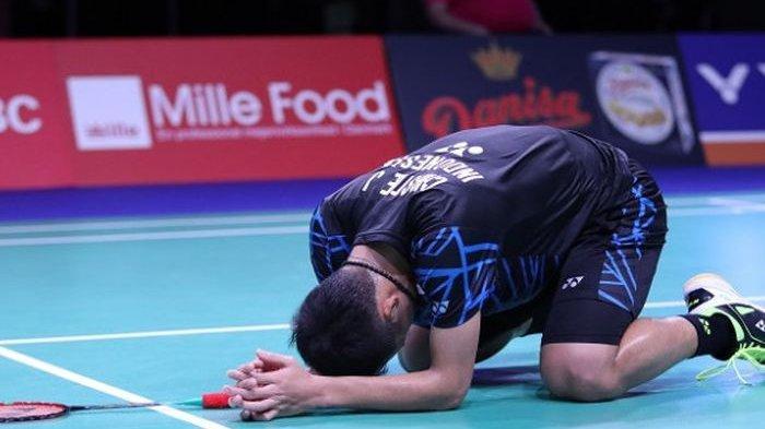 Hasil Final French Open 2019: Jonatan Christie Dikalahkan Chen Long, Belum Bisa 'Pecah Telur'
