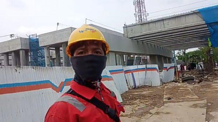 Oknum Pekerja Proyek Tol Cibitung-Cilincing Halangi dan Pukul Kamera Wartawan yang Meliput dari Jauh