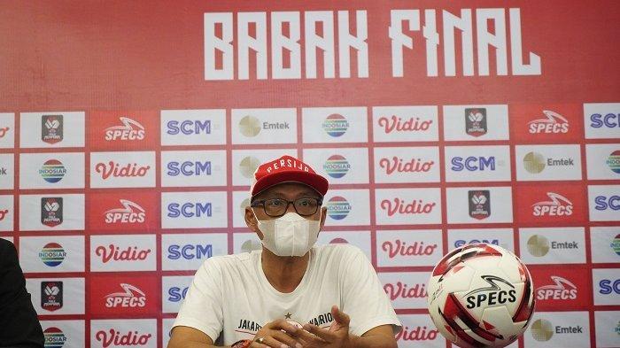 Pelatih Persija Jakarta Sudirman jelang jadwal Final Piala Menpora 2021 leg kedua