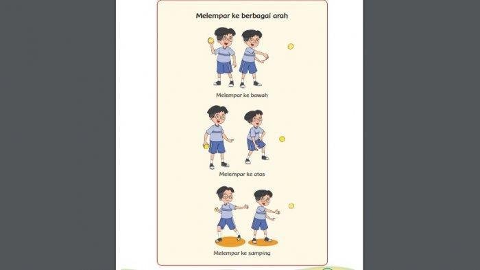 Berikut Beberapa Cara Melempar Bola, Kunci Jawaban Buku Tema 3 Kelas 1 SD Halaman 14 15 dan 16