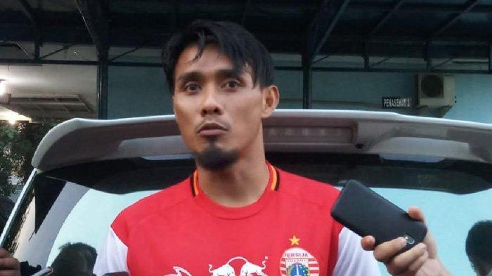 Pemain bertahan Persija Jakarta, Maman Abdurrahman saat ditemui selepas latihan di Lapangan PS AU TNI Halim Perdanakusuma, Jakarta Timur, Kamis (13/6/2019)