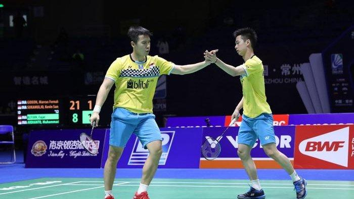 Hasil French Open 2019 - Marcus/Kevin Melaju ke Final, Anthony Ginting Ditaklukkan Chen Long