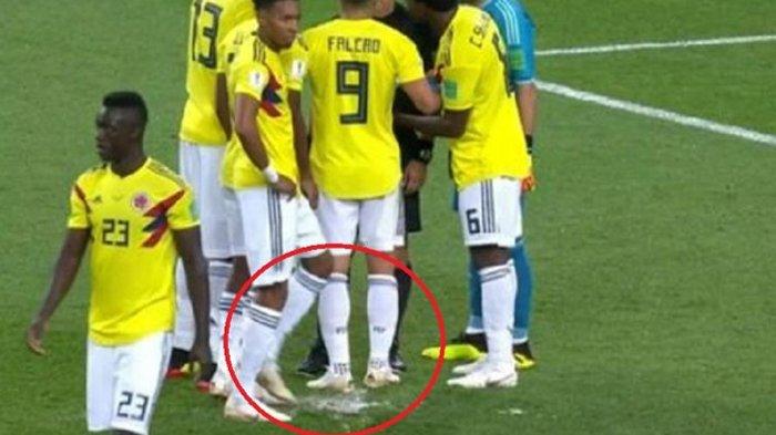 Pemain Kolombia Ini Tertangkap Kamera Mencoba Sabotase Penalti Kapten Inggris Harry Kane