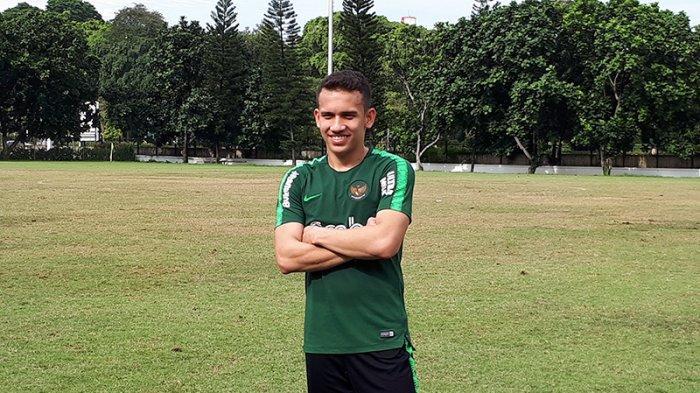 Pemain Lechia Gdanks Egy Maualan Vikri sudah mulai bergabung dengan Timnas Indonesia U-23 di Lapangan A, Senayan, Jakarta, Kamis (14/3/2019).