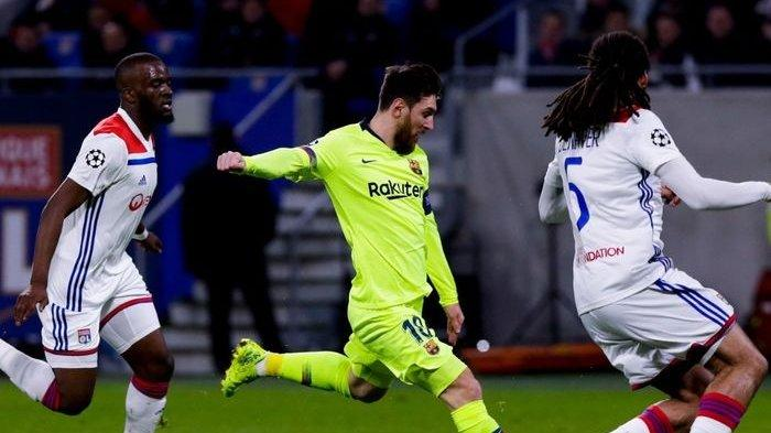 Olympique Lyon vs Barcelona Tanpa Gol, Lionel Messi Tetap Tampil Menghibur