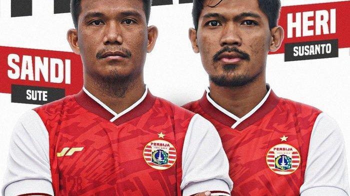 Pemain Persija Jakarta, Sandi Sute dan Heri Susanto resmi dilepas Persija Jakarta ke Persis Solo, Sabtu (22/5/2021).