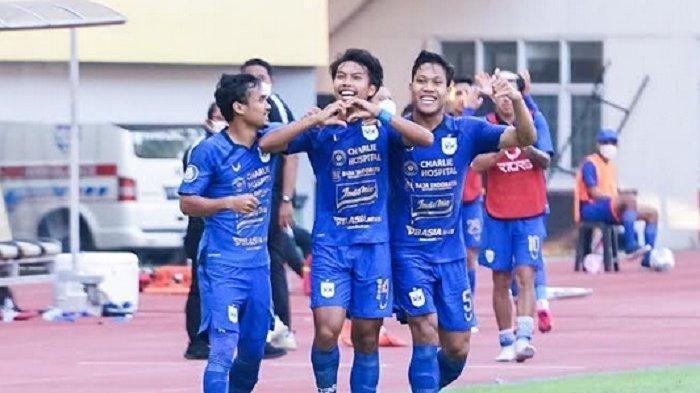 Pemain PSIS Semarang Riyan Ardiansyah merayakan gol yang ia cetak ke gawang Persela Lamongan pada laga pekan pertama Liga 1 2021 di Stadion Wibawa Mukti Cikarang, Sabtu (4/9/2021)- Istimewa