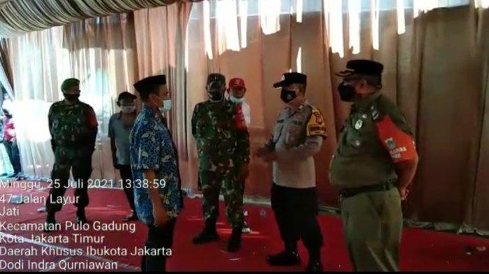 Resepsi Pernikah di Kelurahan Jati Jakarta Timur Dibubarkan Petugas Gabungan