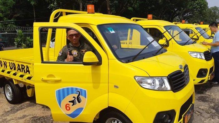 Ini Penampakan Esemka Kuning, Mobil Operasional TNI Angkatan Udara Dilengkapi Rotator