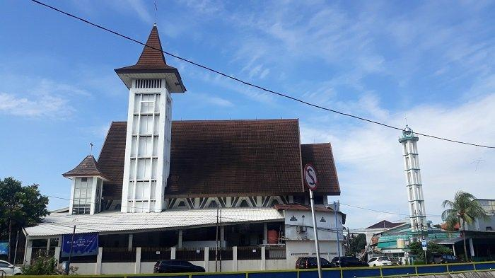 Penampakan gereja HKBP Kernolong di Kawasan Kenari, Senen, Jakarta Pusat pada Jumat (2/4/2021).