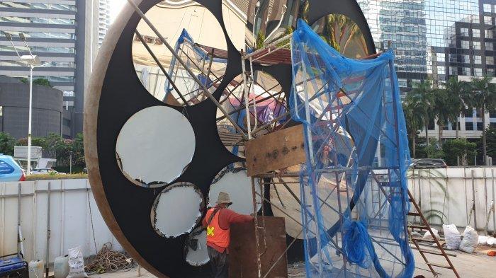 Dikebut, Pembangunannya Tugu Sepeda Diperkirakan Selesai Lebih Cepat, Begini Penampakannya