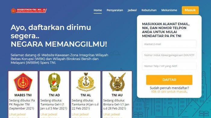 Dibuka pendaftaran calon perwira prajurit karier (PAPK) 2021.