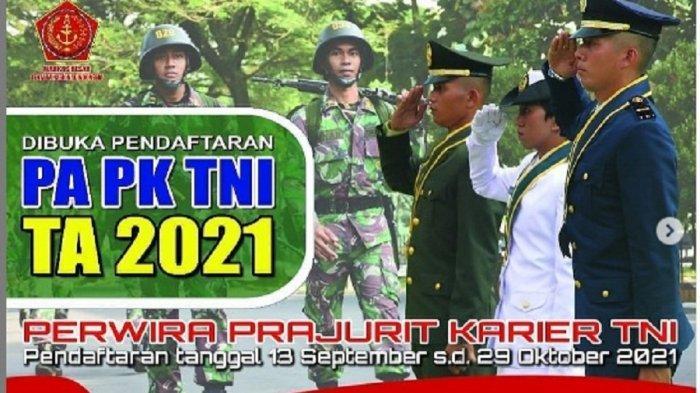 Segera Daftar! Rekrutmen Calon Perwira Prajurit Karier TNI 2021, Catat Syaratnya