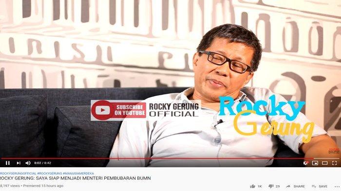 Ngaku Ogah Jadi Dirut BUMN, Rocky Gerung Terkekeh: Bersedia untuk Membubarkan Bukan untuk Memimpin
