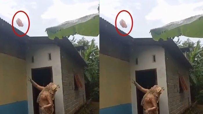 Viral Aksi Calon Pengantin Wanita Lempar Celana Dalam ke Genteng Rumah Supaya Resepsinya Bebas Hujan