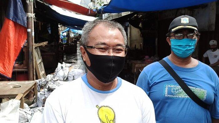 Dua Pedagang Pasar Bambu Kuning yang Positif Covid-19 Jalani Isolasi Mandiri di Rumah
