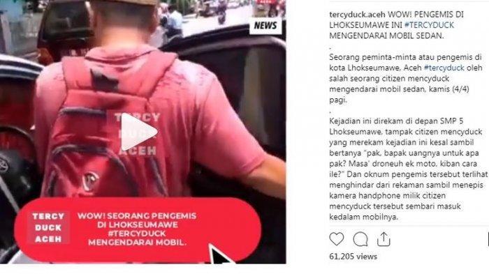 Viral Video Pengemis Naik Mobil Toyota Vios di Lhokseumawe, Dinsos Beri Penjelasan