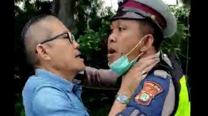 Polisi Buru Pengemudi Agya yang Cekik dan Ajak Berkelahi Polantas di Tanjung Duren