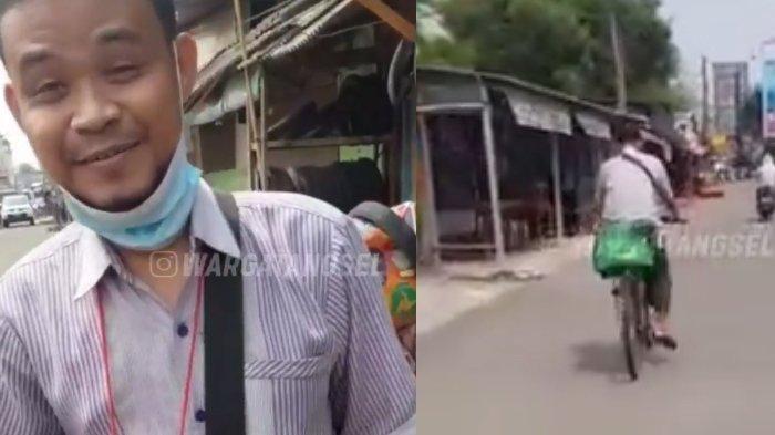 Viral Video Pengemudi Ojol Antar Makanan Pakai Sepeda Reot, Tempuh 8 KM Gegara Motor Ditarik Leasing