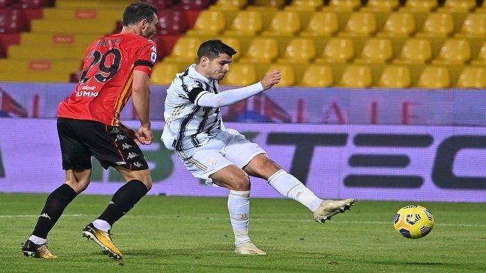 Hasil Liga Italia Serie A Benevento vs Juventus Imbang, Kalimat Ini Buat Morata Kena Kartu Merah