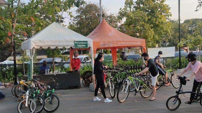 Fasilitas Penyewaan Sepeda di Ancol Mulai Ramai Diminati Pengunjung