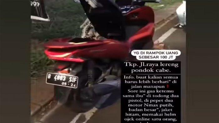 Wanita yang Mengaku Dirampok Rp 100 Juta di Tangsel Enggan Buat Laporan ke Polisi