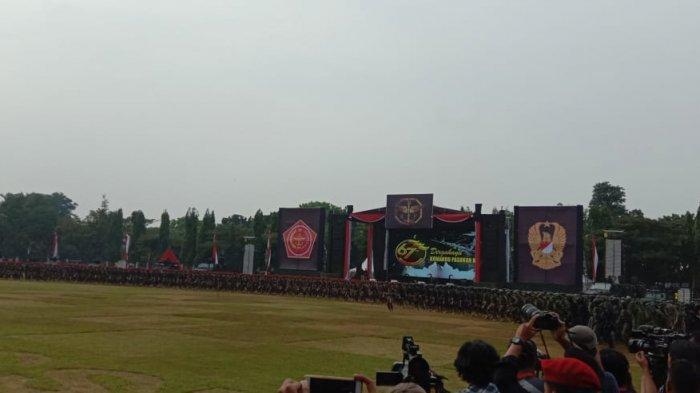 Pidato Puncak Perayaan HUT ke-67 Kopassus, Panglima TNI: Disinilah Tempatnya Prajurit Pilihan