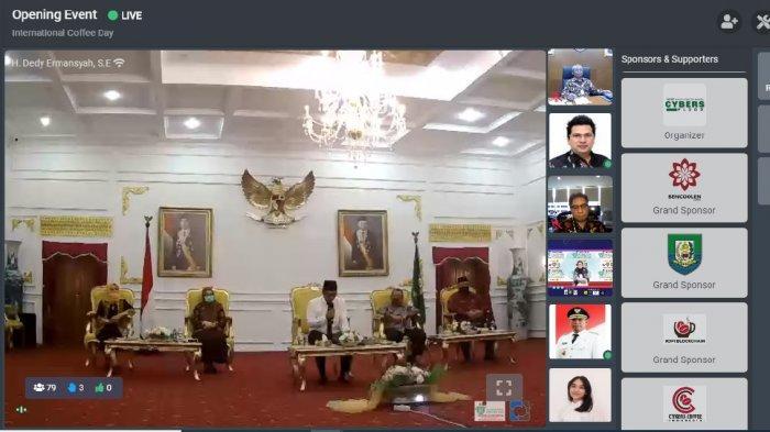 Menteri Perindustrian dan Gubernur Bengkulu Buka International Coffee Day 2020 Secara Virtual