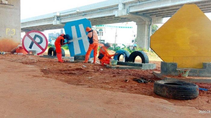 Pembangunan Sarana Rekreasi Warga di Kolong Tol Becakayu Sudah 60 Persen