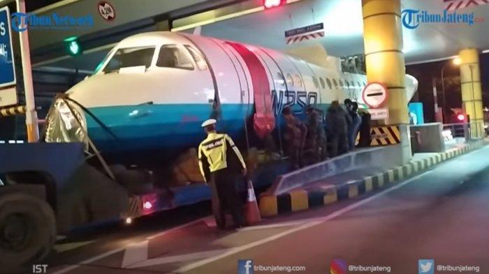 Pesawat N250 Gatotkaca Buatan BJ Habibie Dipindahkan ke Museum, Sempat Tak Bisa Lalui GT Banyumanik