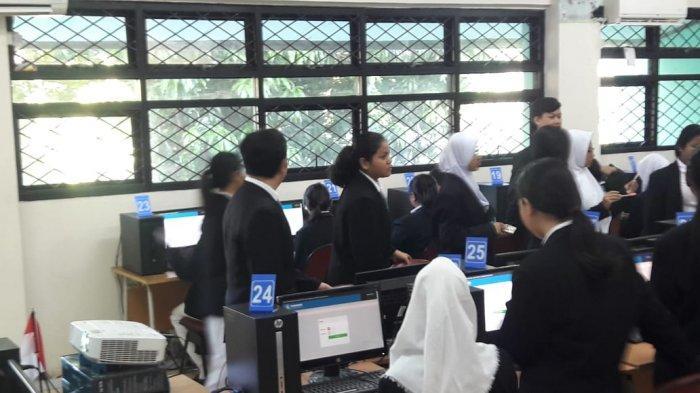 Hari Pertama UNBK, Sejumlah Peserta Didik SMK 27 Jakarta Mengaku Tegang
