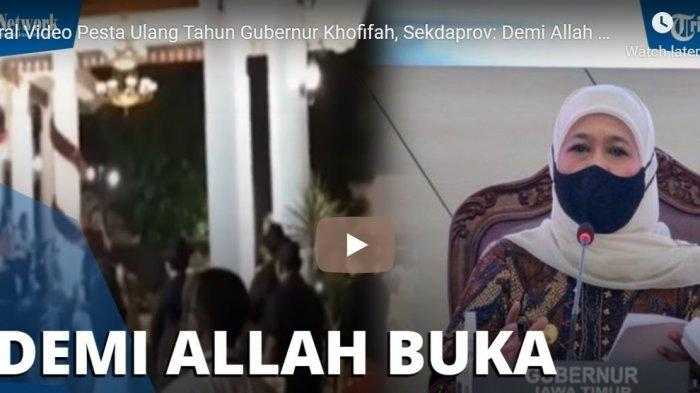 Viral Keramaian Pesta Ulang Tahun Gubernur Jatim Kofifah Indar Parawansa, Sekda: Demi Allah