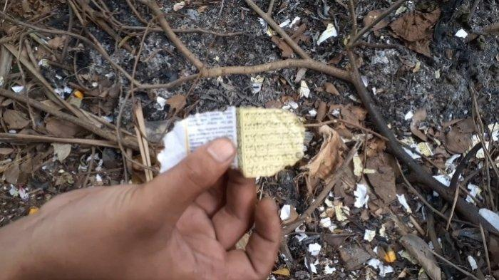 Petasan terbuat dari kertas Al-Qur'an diRT 1 RW 6, Kelurahan Parung Serab, Ciledug, Kota Tangerang, Minggu (12/9/2021).