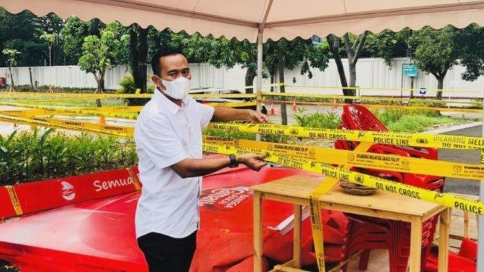 Pasca Olah TKP, Lokasi Konser Musik yang Viral di Pasar Minggu Dipasang Garis Polisi