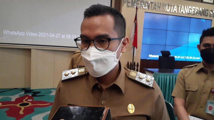 Wakil Wali Kota Tangerang Selatan Pilar Saga Ichsan, di Balai Kota Tangsel, Jalan Maruga, Ciputat, Selasa (27/4/2021).