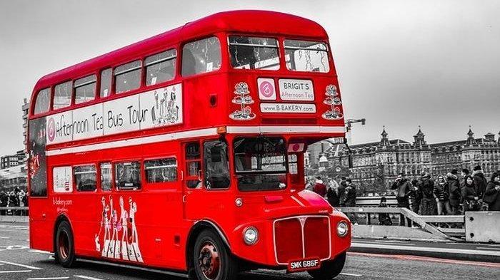 Ilustrasi transportasi umum (bus)