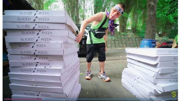 Prank Atta Halilintar dengan Beli 31 Pizza, Segini Jumlah Uang yang Dikeluarkan Saaih Halilintar