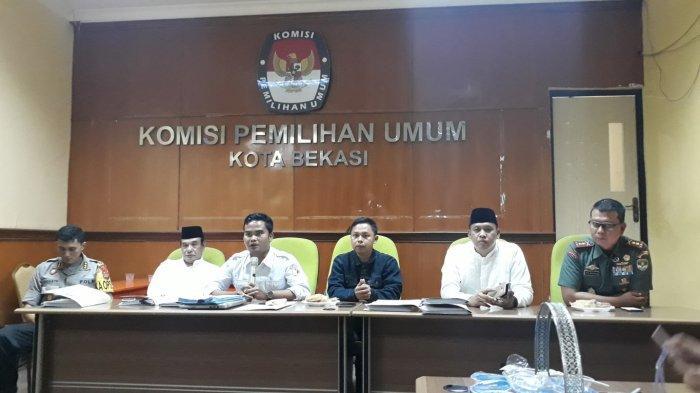 Rapat Pleno Pemilu 2019 KPU Kota Bekasi, Prabowo-Sandi Unggul 54,9 Persen