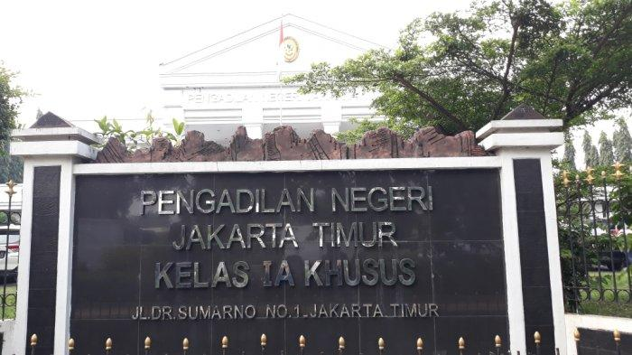 Tampak depan Pengadilan Negeri Jakarta Timur, Kamis (18/3/2021).