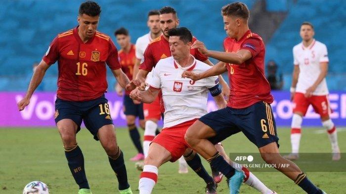 Hasil Euro 2020 Spanyol Vs Polandia: Gerard Moreno Buang-buang Peluang, Lewandowski Jadi Penyelamat