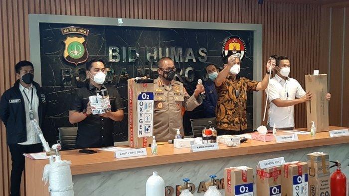 Polda Metro Jaya Bongkar Kasus Pemalsuan Tabung Oksigen, Pelaku Modifikasi Apar Berisi CO2