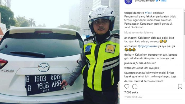 Pengemudi Mobil yang Gunakan Pelat Nomor Palsu Dapat Dijerat Tindak Pidana