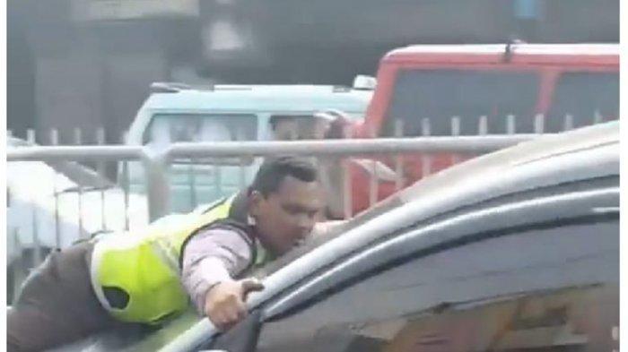 Ini Pengakuan Bripka Eka, Polisi yang Naik di Kap Mobil Sejauh 200 Meter untuk Tilang Pengemudi