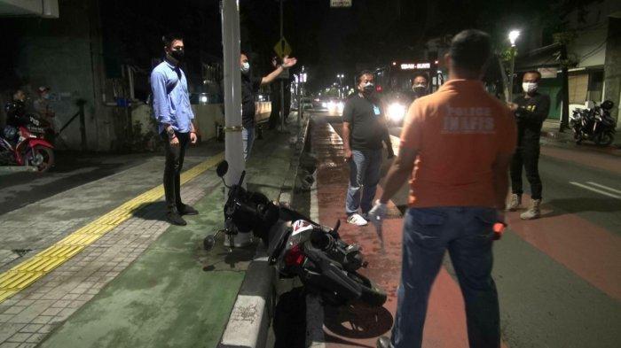 Polisi Olah TKP di Lokasi Penjambretan Roa Malaka