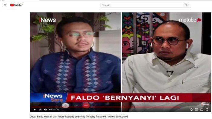 Debat dengan Andre Rosiade Soal Videonya, Faldo Maldini: Jangan Kebiasaan Menyerang Hal Pribadi!