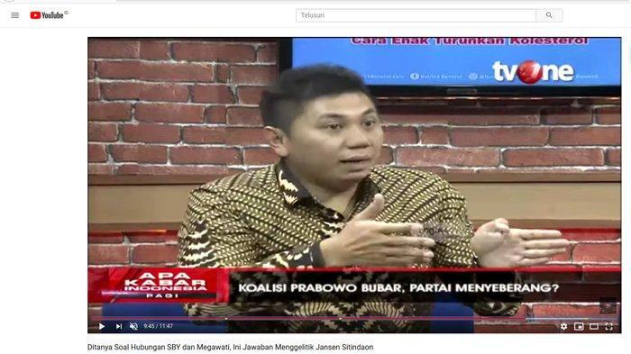 Ditanya Hubungan SBY & Megawati saat Bahas Arah Politik, Reaksi Jansen Sitindaon Tuai Gelak Tawa