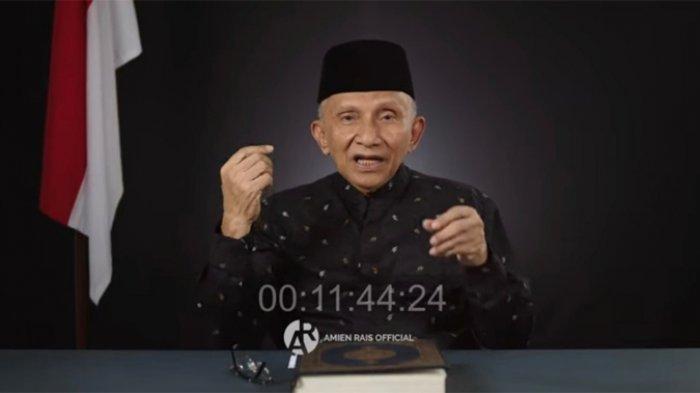 Politisi senior, Amien Rais mengutip ucapan Basuki Tjahaja Purnama alias Ahok soal pencalonan Jokowi saat menyinggung soal masalah cukong.