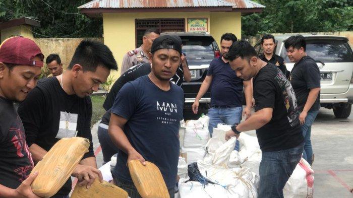 Polres Jakarta Barat Ungkap Ratusan Kilogram Ganja di Mandailing Natal